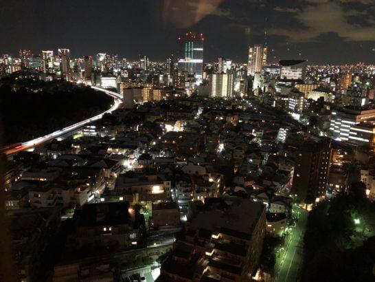 ウェスティンホテル東京の客室からの夜景