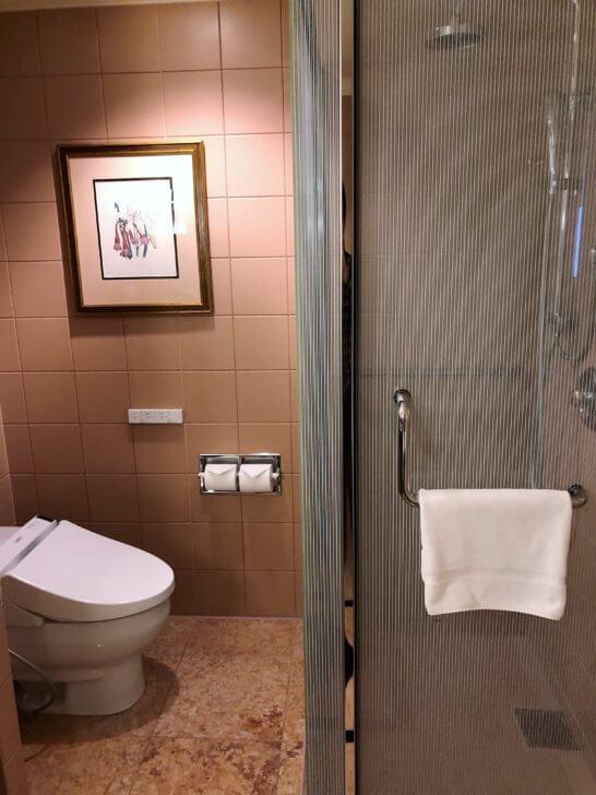 ウェスティンホテル東京のデラックスルームのトイレ・シャワールーム