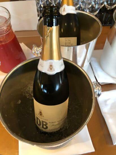 ウェスティンホテル東京 エグゼクティブ クラブラウンジのスパークリングワイン