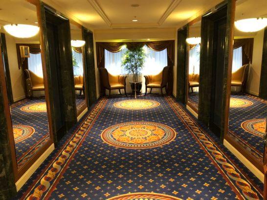 ウェスティンホテル東京のプラチナフロアのエレベーターホール