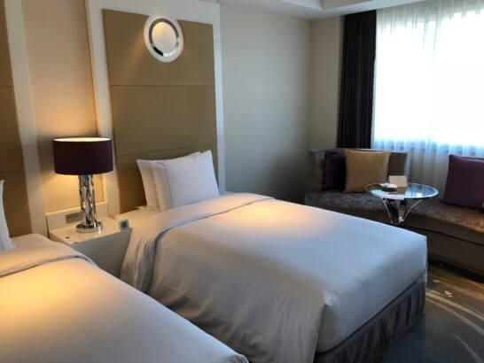 東京マリオットホテルのツインルーム