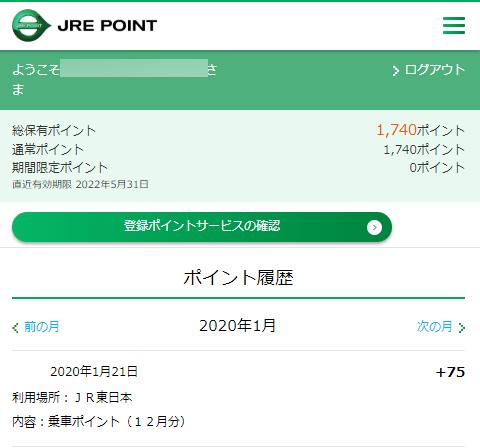 JR東日本の乗車ポイント