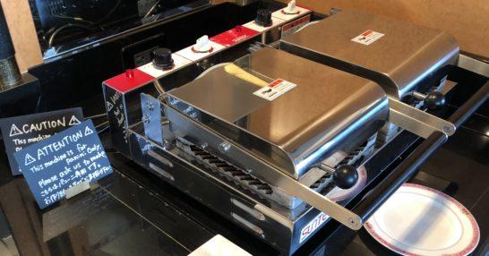 ウェスティンホテル東京のクラブラウンジのパニーニを焼く機械