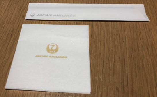 サクララウンジ(羽田空港国際線)のナプキンや割り箸の入れ物