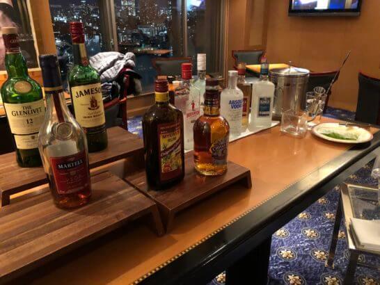 ウェスティンホテル東京 エグゼクティブ クラブラウンジの洋酒