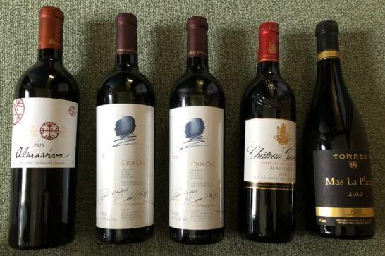 オーパス・ワン、その他赤ワイン