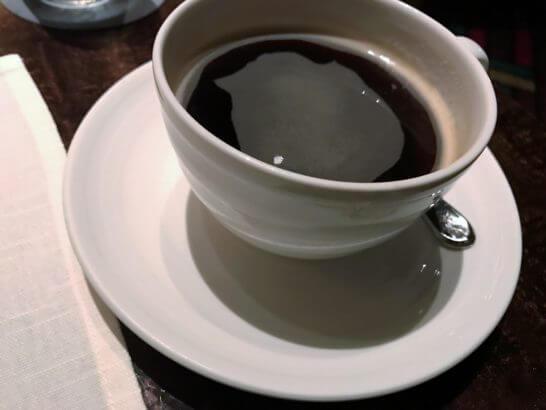 ウェスティンホテル東京のザ・テラスのディナー (コーヒー)