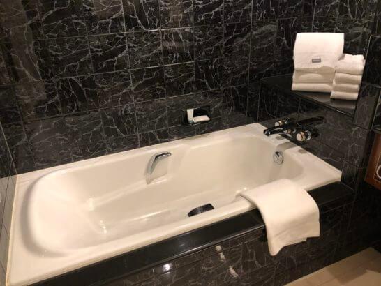 ウェスティンホテル東京のプラチナフロアの浴槽