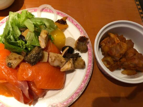 ウェスティンホテル東京 エグゼクティブ クラブラウンジの食べ物
