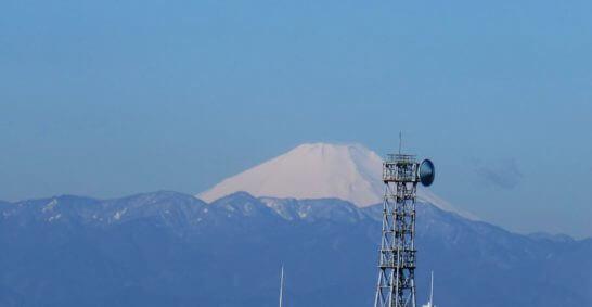 ウェスティンホテル東京から見る富士山