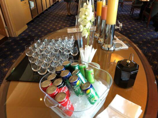 ウェスティンホテル東京 エグゼクティブ クラブラウンジのソフトドリンク