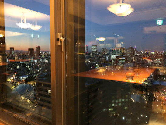 ウェスティンホテル東京 エグゼクティブ クラブラウンジの夜景