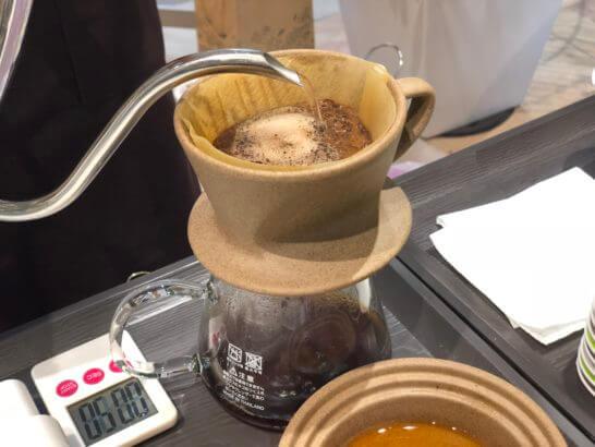 The Roastで焙煎したコーヒー豆の泡の膨らみ