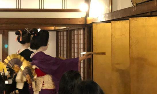 アメックスの醍醐寺の夕食での芸舞妓の舞