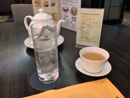 横浜ベイシェラトンホテルの彩龍のお茶