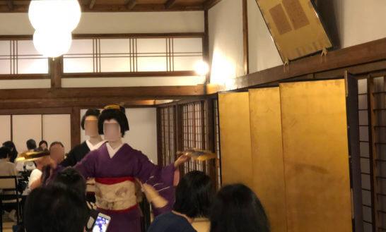 アメックスの醍醐寺のイベントでの芸舞妓の舞