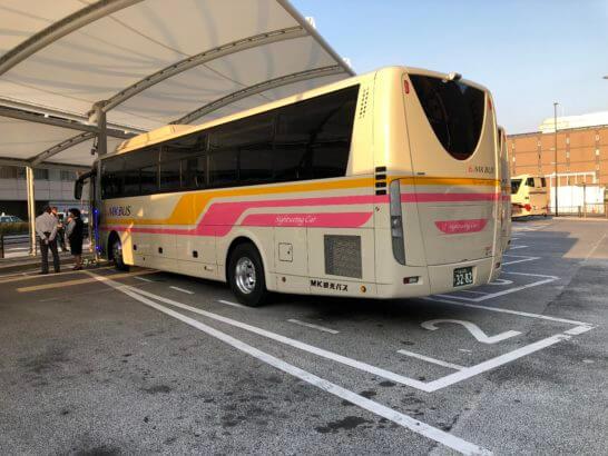 アメックスの醍醐寺のイベントの送迎バス