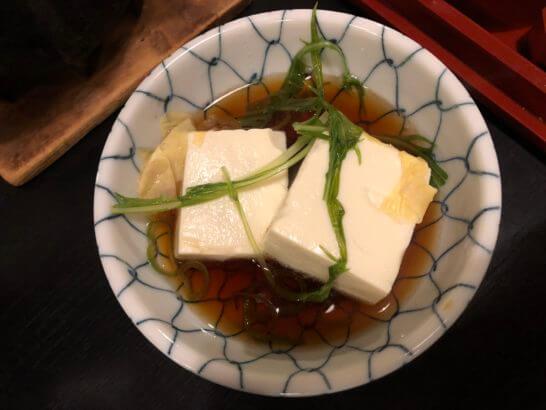 アメックス会員限定の醐山料理「花見膳」 の湯豆腐