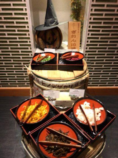 ウェスティンホテル京都のビュッフェの漬け物コーナー