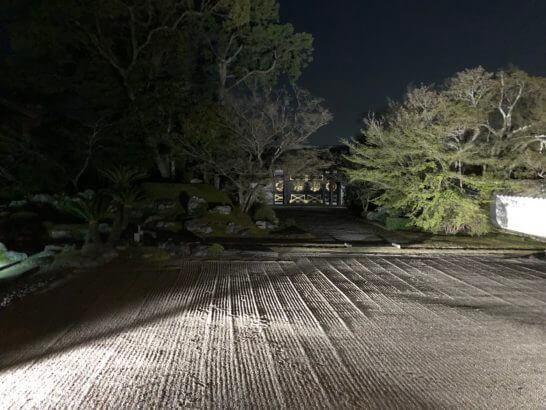 醍醐寺の日本庭園(ライトアップ)