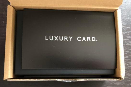 ラグジュアリーカード(ブラックカード)の箱