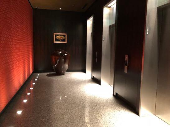 マンダリンオリエンタルホテル東京のエレベーター