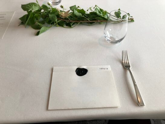 プジョル・アット・マンダリン・オリエンタル・東京のテーブル・メニュー