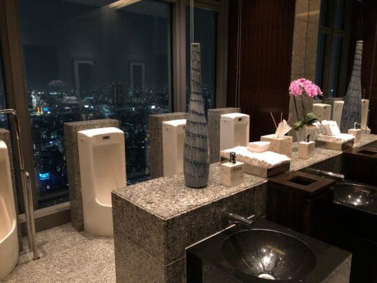 マンダリンオリエンタルホテル東京の38Fのトイレ