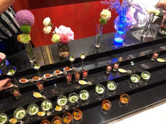 LA LISTE日本最優秀レストランを祝うレセプションのオードブル