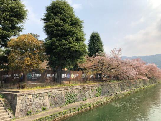 京都国立近代美術館の近くの風景