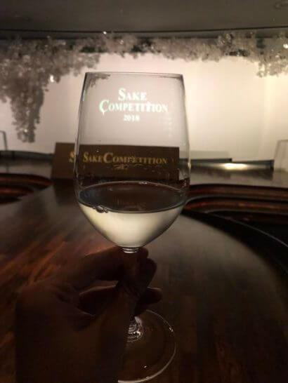 SAKE COMPETITION 2018 授賞パーティーの日本酒グラス (2)