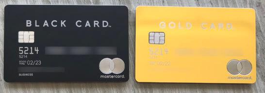 2枚のラグジュアリーカード