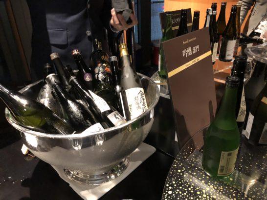 SAKE COMPETITION 2018 授賞パーティーで飲み放題の日本酒