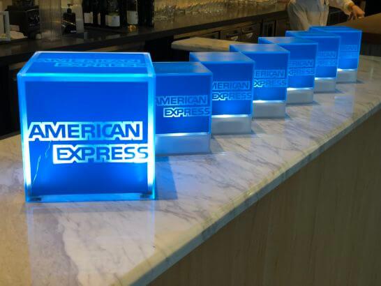 THE GREEN Café American Express×数寄屋橋茶房のアメックスのロゴ