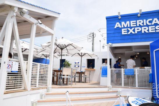 アメックスの海の家「AMEX BLUE HOUSE」のエントランス