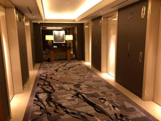 横浜ベイシェラトン ホテルのクラブフロアのエレベーター