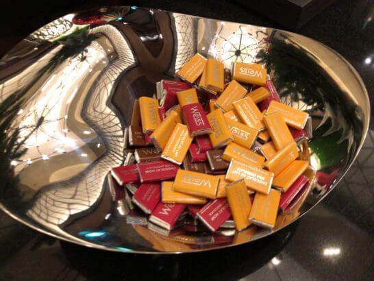 横浜シェラトンのクラブラウンジのチョコ