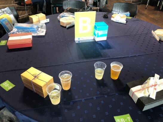 アメックスの横浜花火大会のテーブル
