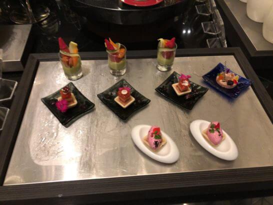 横浜ベイシェラトン ホテルのクラブラウンジのオードブル
