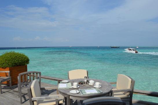 モルディブのカフェ