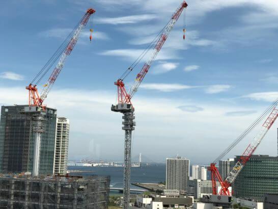 横浜ベイシェラトンのクラブラウンジからの眺め(海方面)