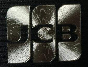 箔押し印刷のJCBロゴ