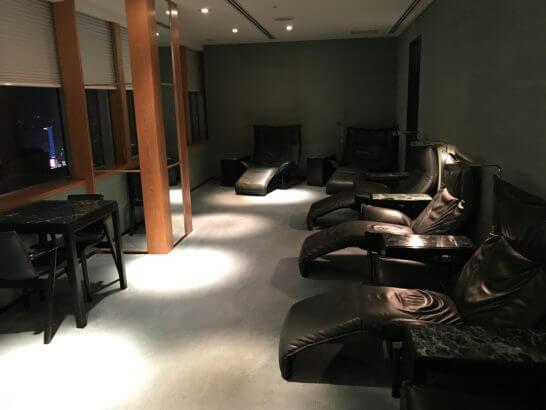 クラブオンザパークのスパの休憩室