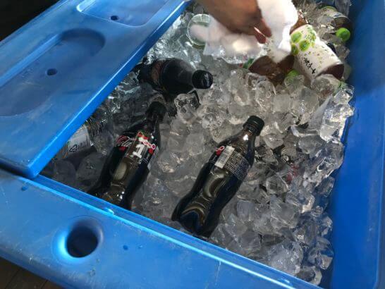 アメックスの横浜花火大会のペットボトル飲料