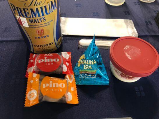 アメックスの横浜花火大会のビール・アイス・ナッツ