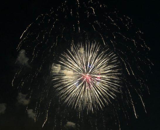 アメックスの横浜花火大会の花火 (5)