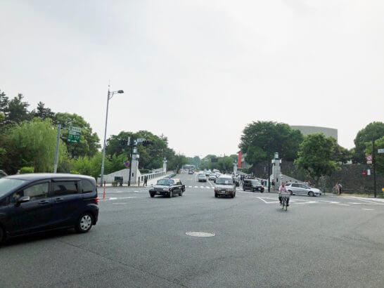 東京国立近代美術館の手前の交差点