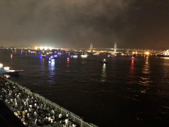 横浜大さん橋からの美しい夜景