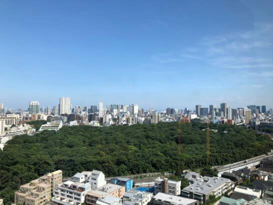 ウエスティンホテル東京の客室からの景色