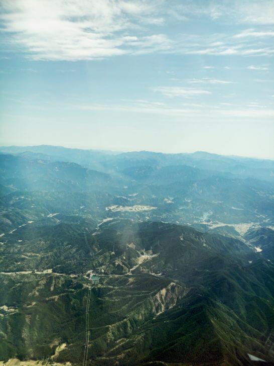 ANAの飛行機から見る山々